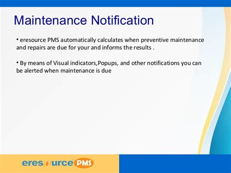 System Maintenance Notification Template preventive maintenance system plant maintaintenance