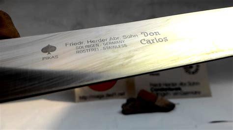 Pisau Cap Garpu Solingen pisau sembelih 10 inci f herder cap garpu solingen jerman