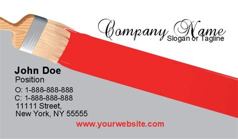 paint shop pro business card templates painter business cards