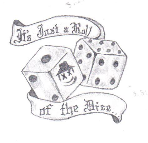dice tattoo drawings pictures to pin on pinterest pinsdaddy