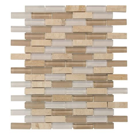 Home Depot Brick Tile by Jeffrey Court Cottage Ridge Mini Brick 11 75 In X 12 In