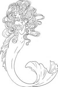 mermaid coloring pages for adults lineart for mermaid by shynimoonstar on deviantart
