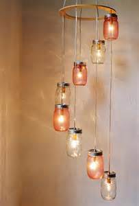 Jar Chandelier 20 Cool Diy Chandelier Ideas For Inspiration Hative