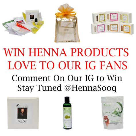 Product Giveaways - love to our ig fans exclusive product giveaways henna
