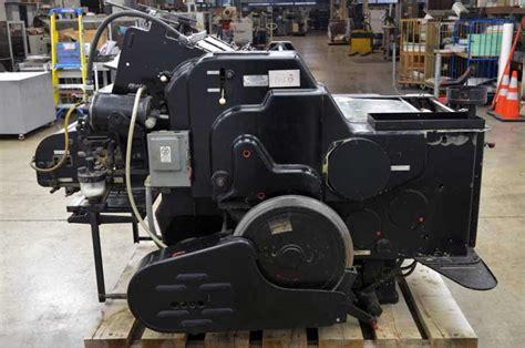 Original Heidelberg Compression 6 original heidelberg einfarben offset letterset 40 x 57 boggs equipment