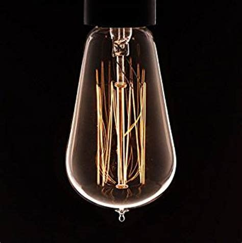 decorative light bulbs amazon vintage light bulb squirrel cage filament fashioned