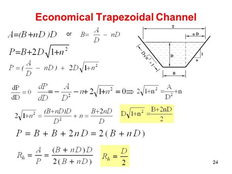 best hydraulic section for trapezoidal channels water flow in open channels ppt video online download