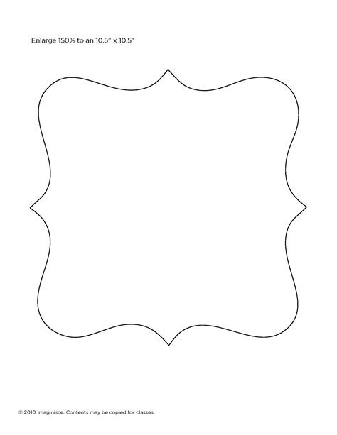 frame outline template template for picture frame manualidades