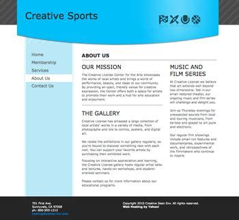 yahoo web page layout screenshot