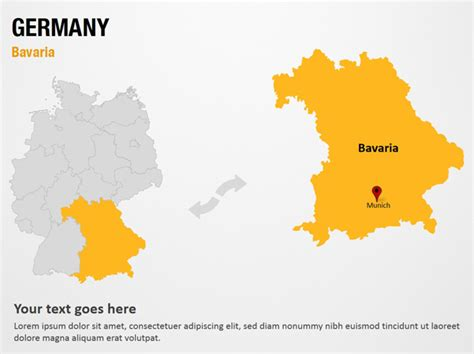powerpoint layout germany bavaria germany powerpoint map slides bavaria
