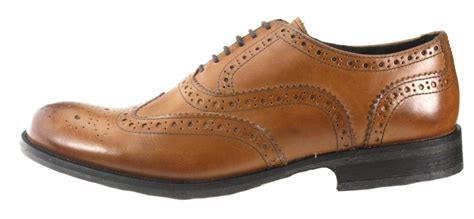 mens brown leather brogue boots base mens brogue lace up brown leather fomal shoes