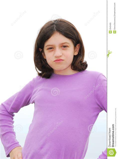 young pics angry girl stock image image of children girl attitude