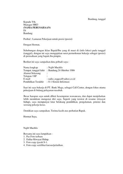 format surat lamaran kerja di hotel contoh surat lamaran kerja hrd ben jobs
