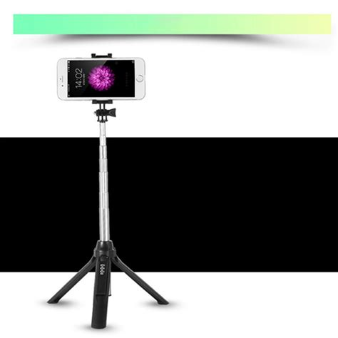 Tongsis Samsung 3 in 1 wireless bluetooth selfie stick tripod extendable self portrait monopod for ios android