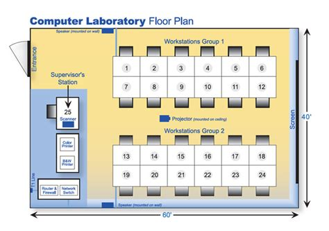 computer room floor plan computer floor plan computer lab floor plan home