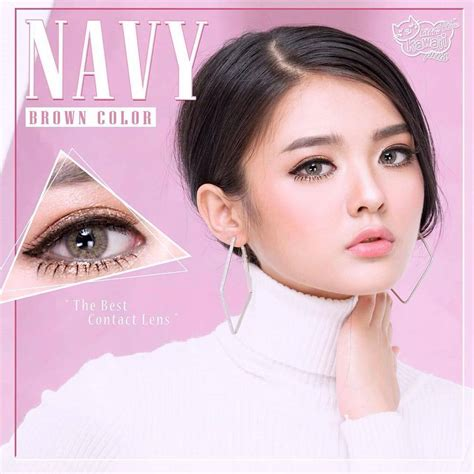 Softlens Pretty Doll Vire Brown navy brown softlens