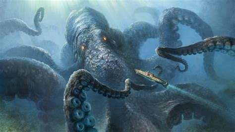 imagenes mitologicas hd download 1920x1080 kraken wallpaper