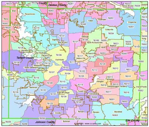 zip code map tarrant county zip code map dallas fort worth tx