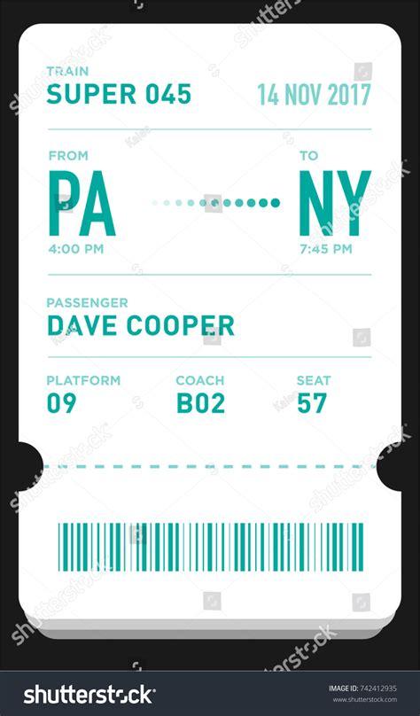 eticket boarding pass card template bar stock vector