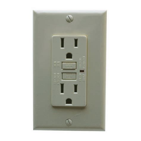 gfci outlet not working bathroom garvin gfci15ivtp ter resistant outlet gfci receptacle