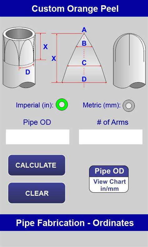 pipe fitting templates mitered pipe calculator android apps on play
