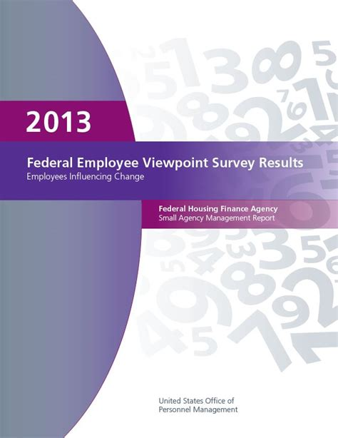 viewpoint survey employee survey results federal housing finance agency