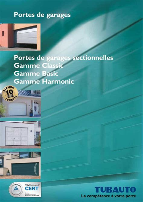 calam 233 o catalogue tubauto portes de garages sectionnelles
