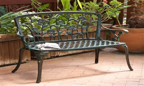 Design For Cast Iron Bench Ideas Outdoor Patio Benches Aluminum Patio Bench Cast Iron