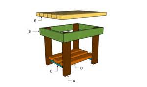 Free Small Wood Table Plans by Small Outdoor Wood Table Plans Furnitureplans