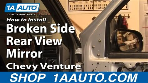 install replace broken side rear view mirror chevy