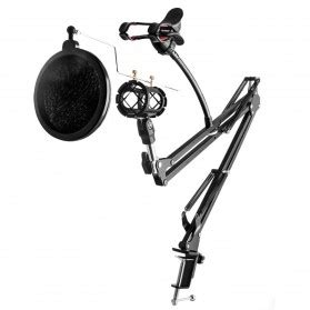 Condenser Microphone Phone Stand Holder 360 Degree Adjustable Mic microphone harga murah jakartanotebook