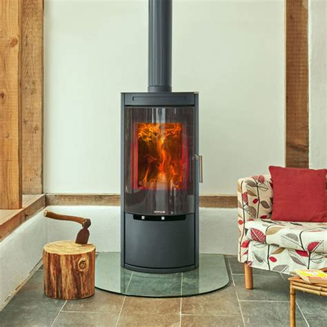 Glass For Wood Burning Stove Door Opus Melody 5kw Defra Wood Burning Stove With Glass Door 163 1 670 00