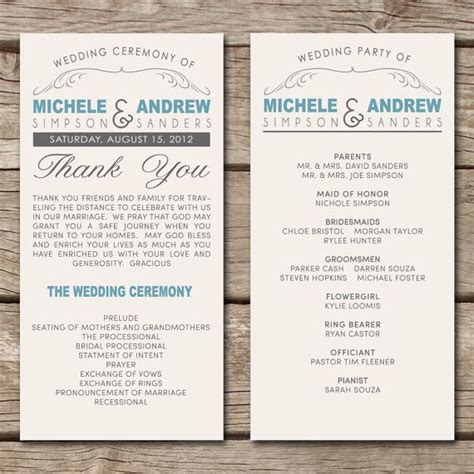 anniversary program template planning a vow renewal for 25th anniversary help with