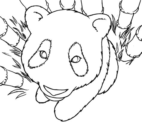 coloring page of a panda panda coloring page 1 by littletihany on deviantart