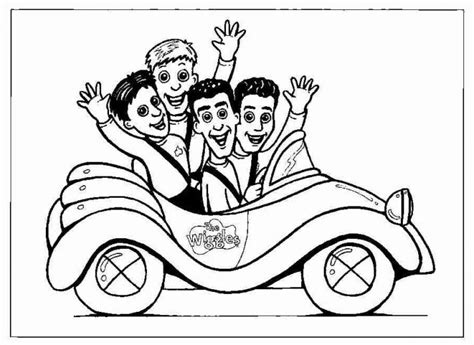 Wiggles Coloring Pages free printable wiggles coloring pages for