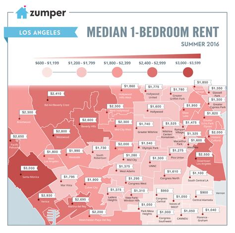 cheapest rent in usa 2016 la s cheapest and priciest neighborhoods to rent in right