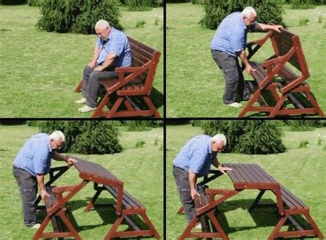 folding bench and picnic table combo wonderful diy space saving fold down picnic table