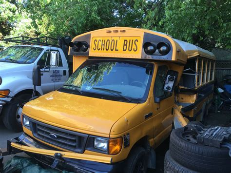 ford   diesel wrecked accident salvage damaged  school bus parts ebay