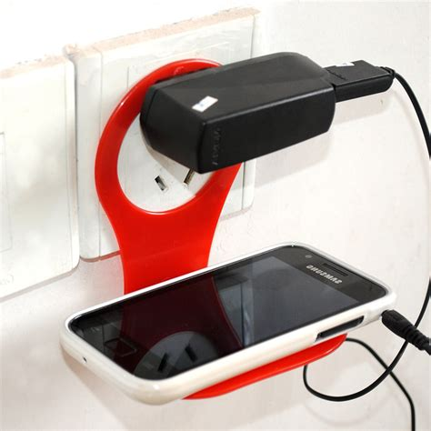 cell phone charging shelf phone holder foldable wall charger shelf adapter car hanging hanger stand for cell cellphone
