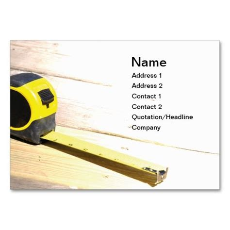 tape measure business card it is business card