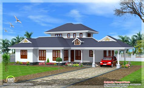 beautiful kerala style single floor villa indian house plans