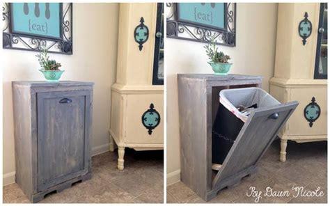 creative ideas diy wood tilt out trash can cabinet i