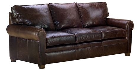Classic Leather Sofa Set With Traditional Rolled Arms Leather Sofas