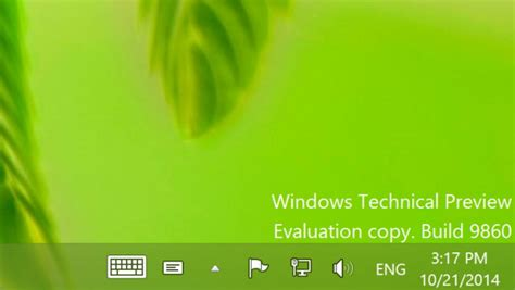 announcing the first build of windows 10 technical preview windows 10 technical preview gets first update build 9860
