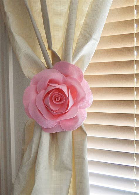 flower tie backs for curtains two rose flower curtain tie backs curtain tiebacks curtain