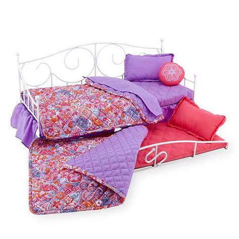 journey girls sweet dreams  doll bloomin trundle bed floral pattern mattress sweet  sleep