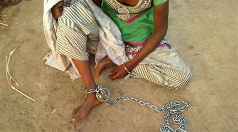 section 342 ipc gujarat 19 yr old girl tied with iron chain to prevent
