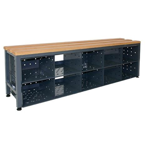 shoe locker storage locker room island bench with shoe storage shs handling