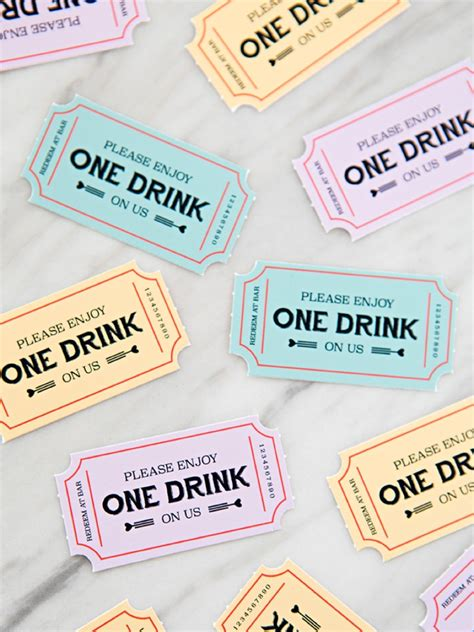 printable drink tickets these free printable wedding drink tickets are so freaking