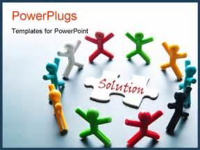best teamwork solution powerpoint template vector paper